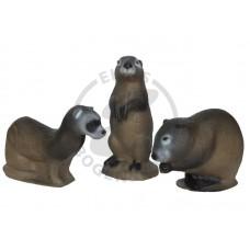 3DI Family Pack Mink, Muskrat, Prairie Dog